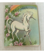 vintage small unicorn cover address book made in USA pocket purse size book - $19.75