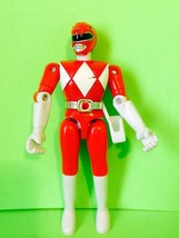 Red Mighty Morphin Power Rangers Action Figure By BANDAI Vintage 1993 Gift - $11.30