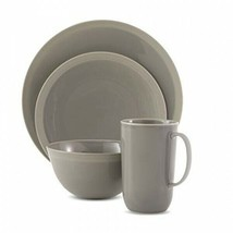WEDGWOOD Vera Gradients GREY  by Vera Wang 4 Piece Place Setting NEW - $74.24