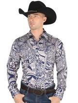 Western Shirt L/Sleeve (Spcls) El General 100% Polyester ID 34217 CA3 Blue - £24.47 GBP