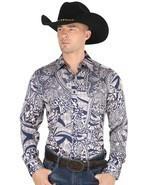 Western Shirt L/Sleeve (Spcls) El General 100% Polyester ID 34217 CA3 Blue - $715,59 MXN