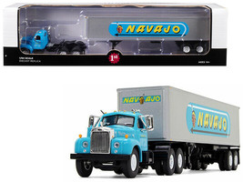 MACK B-61 DAY CAB W/ 40' TRAILER NAVAJO 1/64 DIECAST MODEL FIRST GEAR 60... - $69.95