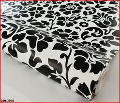 DC Fix Self Adhesive Black White Floral Pattern Vinyl 17.7'' x 39.3'' 200-3098 - $10.25