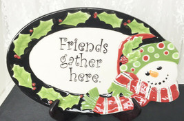 Fitz And Floyd Friends Gather Here Decorative Plate Snowman Holiday 6.75... - $20.67