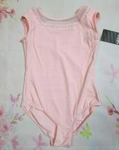 Bloch Leotard New Size 14 Fits 10-12 L Girls Pink Cap Slv Mesh Dance Bal... - $14.99