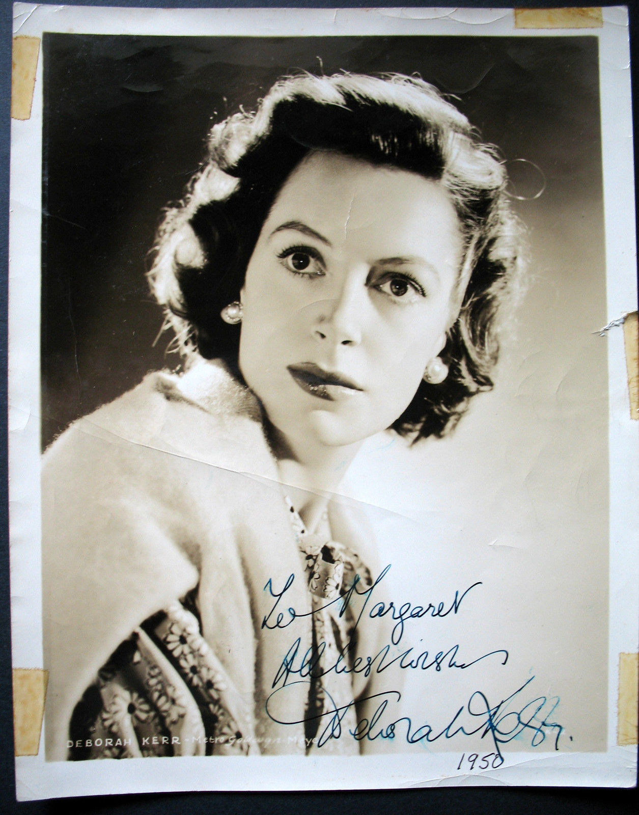 DEBORAH KERR (ORIGINAL 1950 SIGN AUTOGRAPH PHOTO) CLASSIC ACTRESS