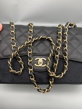 NEW AUTHENTIC CHANEL BLACK CAVIAR QUILTED JUMBO DOUBLE FLAP BAG GHW image 3