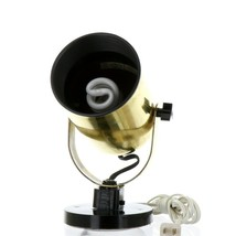 Vintage 1980s Gold Tone Juno Track Can Accent Spot Light image 2