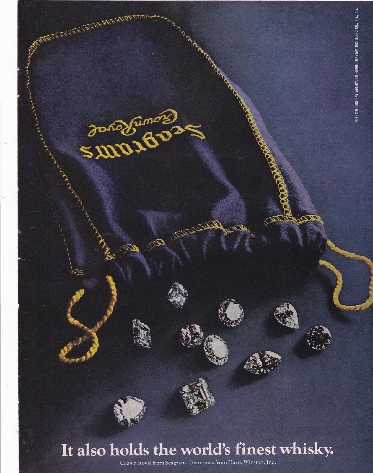 Seagram/'s Crown Royal Purple Felt Bag Gold Stitching Drawstring Fifth 5th Size
