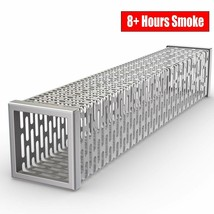 Pellet Tube Wood Smoker Box - High Grade 304 Stainless Steel 8+ Hours Ho... - $22.76