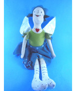 "15"" IKEA SANGTRAST Plush Fairy Doll Girl Green Blue Stuffed Animal Toy W... - $5.30"