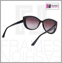 BVLGARI LOGO BV8157BQ Black Burgundy Leather Violet POLARIZED Sunglasses 8157 image 4