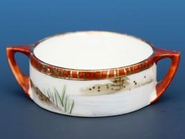 Vintage Open Salt Dip Cellar Royal Kaga Hand Pinted Nippon image 2