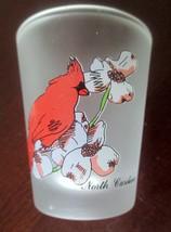 NORTH CAROLINA SHOT GLASS CARDINAL DOGWOOD - $4.00