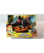Disney Jake and The Never Land Pirates Hooks Battle Boat Fisher Price 3+... - $12.86