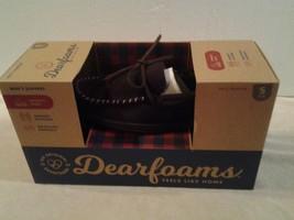 Mens DEARFOAMS brown suede memory foam slip-on indoor/outdoor slippers S... - $19.33 CAD