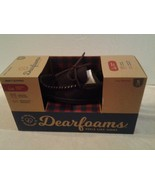 Mens DEARFOAMS brown suede memory foam slip-on indoor/outdoor slippers S... - $14.84