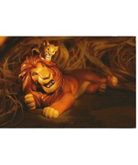 WDCC Disney Post Card Postcard Lion King Pals Forever Mufasa Simba Used 4x6 - $5.50