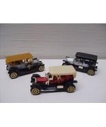 3 pc Antique Classic Cars Die Cast Set #Ty67 - $12.99