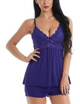 Chomoleza Women Lingerie Lace Sleepwear Sexy Pajama Camisole Short Sets ... - $25.29
