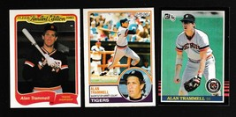 1985-83-85 Alan Trammell Detroit Tigers HOF NEAR-MINT Donruss O-Pee-Chee... - $2.00