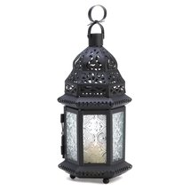 Moroccan Lantern Candle, Decorative Rustic Moroccan Lantern Lights For C... - £13.52 GBP