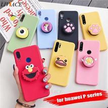 3D silicone cartoon phone holder case for huawei p30 p20 lite pro p8 p9 p10 lite - $12.65