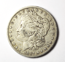 1887 O $1 Morgan Silver One Dollar US Rare VAM 2 Top 100 Double Date - $29.69