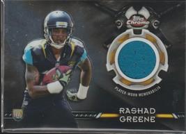 2015 Topps Chrome Rashad Greene Jaguars Rookie Jersey Football Card #TCR... - $8.00