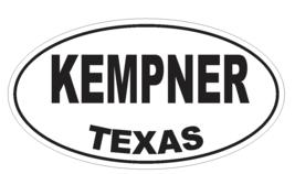 Kempner Texas Oval Bumper Sticker or Helmet Sticker D3544 Euro Oval - $1.39+