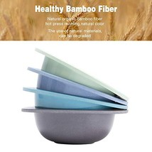 4pcs Bamboo Kids Bowls for Baby Feeding, Non Toxic & Safe Toddler Snack Bowls, E