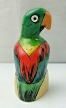 Vintage Hand Carved Wood Parrot Natural Deco - $18.00
