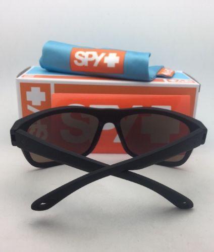a1e1fdc7ce9 Polarized SPY OPTIC Sunglasses ANGLER Soft Matte Black w Bronze Lens+Blue  Mirror