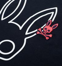 Men's Psycho Bunny Long Sleeve Shirt Parkhouse Graphic Tee Logo Navy Shirt image 6
