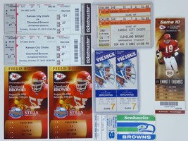 Lot of 10 Cleveland Browns Ticket Stubs NFL Football Seahawks Chiefs Vik... - $17.77
