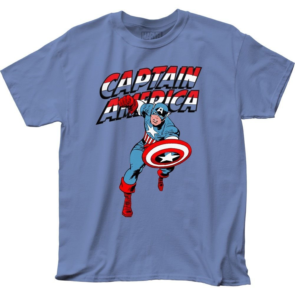 Official Captain America Red White & Blue Logo Shield T-shirt S M L XL 2XL 3XL