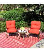 3PC Outdoor Patio Bistro Bar Garden Furniture Set Conversation Set Round... - $229.99