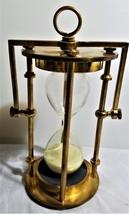 Nautical  Glass & Brass Hour Glass Vintage - £27.01 GBP