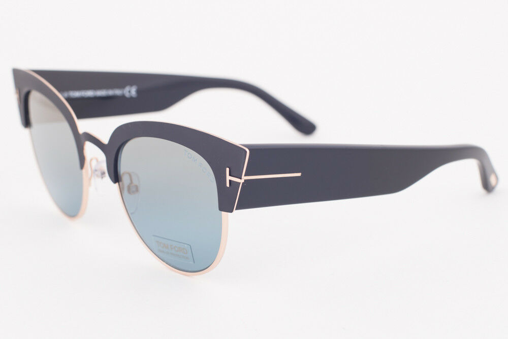 Primary image for Tom Ford ALEXANDRA Matte Black / Blue Gradient Sunglasses TF607-05X ALEXANDRA-02