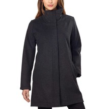 Pendleton Women's Water Resistant Cascade Charcoal Wool Campbell Coat Jacket M