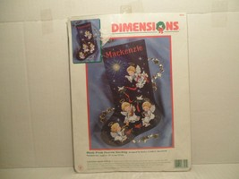 Dimensions Music From Heaven Angels Christmas Cross Stitch Stocking Kit 8525 NEW - $97.96