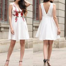 Women Summer Party Sexy V neck Midi Dress Ladies Flower A-line Dresses E... - $18.99