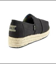 Nuevo Skechers Bobs Mujer Mechas Alto Jinx Negro Zapatos de Cuña Pack Talla - $24.83