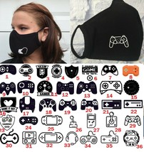 Gaming  face mask 3-ply droplet repellant fabric protection washable clo... - $12.49