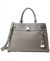 Nwt Michael Michael Kors Gramercy Large Leather Satchel Pearl Grey - $178.19