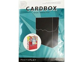 Photoplay Card Box Kit, Black Size A2, 3 Blank A2 Cards and Envelopes