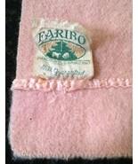 Vtg Faribo Wool Blanket Peach 80 X 64 Pine Tree Sheep Label Nice Clean n... - $59.35