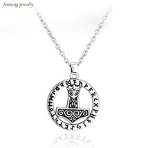 Tibetan Silver Plated Mjolnir Thor Hammer Knot Pendant Necklace Viking N... - $6.09