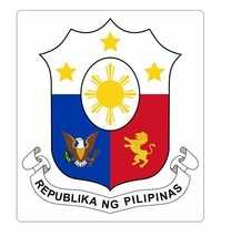 Coat of arms of the Philippines Sticker Decal R960 - $1.45+