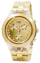 Swatch Irony Diaphane Full-blooded Chronograph Svck4032g Unisex Watch - $171.00